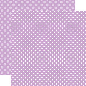 HUCKLEBERRY DOT 12x12 purple patterned cardstock from Echo Park Paper Co.