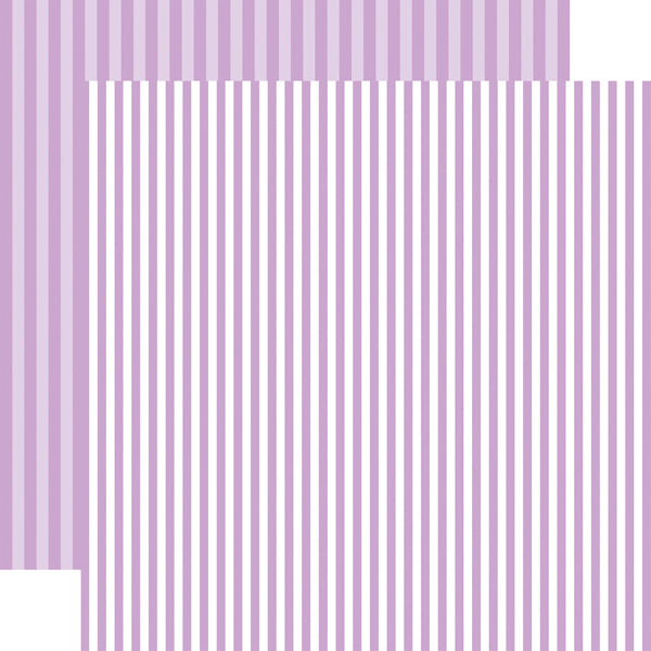 HUCKLEBERRY STRIPE purple 12x12 patterned cardstock from Echo Park Paper Co.