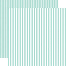 Load image into Gallery viewer, Blueberry Stripe 12x12 Cardstock from Echo Park Paper Co.
