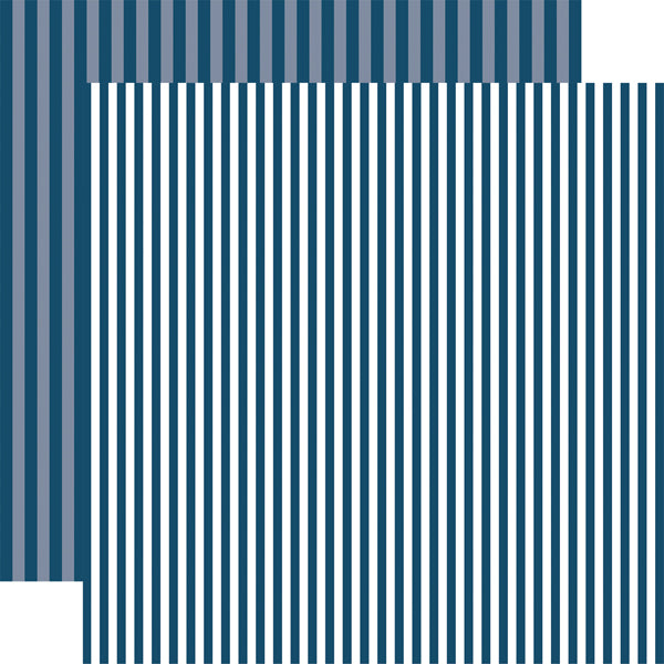 DEEP BLUE SEA STRIPE 12x12 patterned cardstock from Echo Park Paper Co.