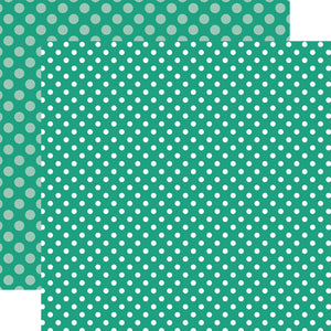 SEA TURTLE DOT marine green 12x12 patterned cardstock from Echo Park Paper Co.