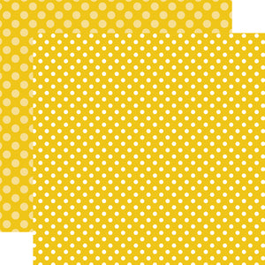 STARFISH DOT yellow 12x12 patterned cardstock from Echo Park Paper Co.