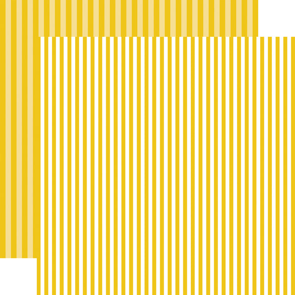 STARFISH STRIPE white on yellow 12x12 patterned cardstock from Echo Park Paper Co.