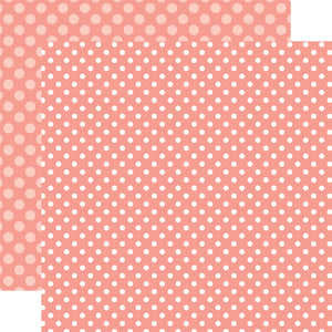 CORAL REEF DOT peach colored 12x12 patterned cardstock from Echo Park Paper Co.