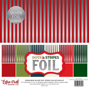 CHRISTMAS STRIPES from Dots & Stripes Foil Collection by Echo Park Paper Co.