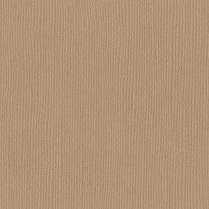 Bazzill FAWN light brown cardstock - 12x12 inch - 80 lb - textured scrapbook paper