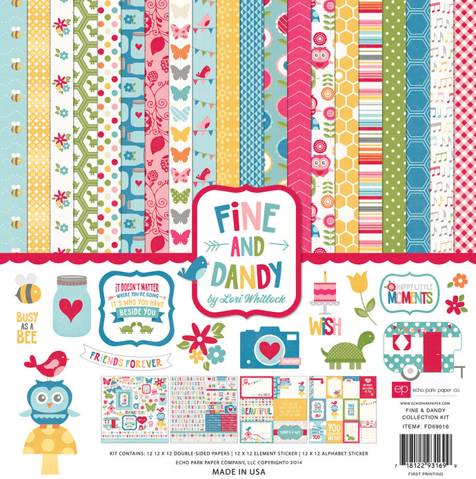 FINE AND DANDY 12x12 Cardstock Collection Kit from Echo Park Paper Co.