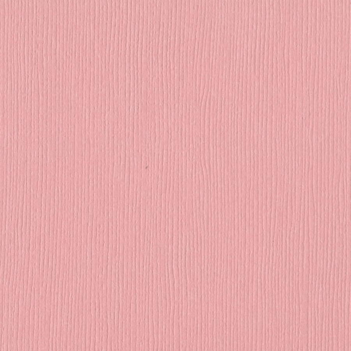 Bazzill FUSSY pink cardstock - 12x12 inch - 80 lb - textured scrapbook paper