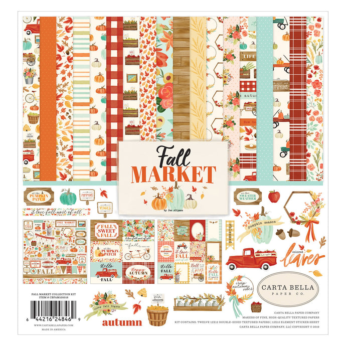 Fall Market Collection Kit from Carta Bella for fine autumn paper crafting