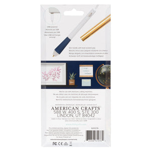 Foil Quill Bold Tip Freestyle Pen allows you to apply heat-activated foil to any project