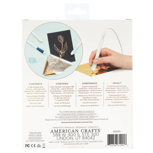 Use Foil Quill Freestyle Pens to apply heat-activated foil to your DIY craft projects