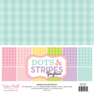 SPRING GINGHAM 12x12 Page Collection Kit by Echo Park Paper Co.