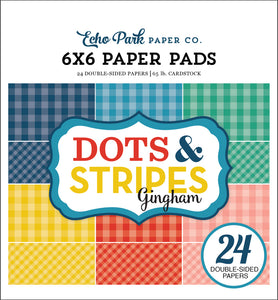 SUMMER GINGHAM 6x6 Paper Pad with 24 double-sided pages by Echo Park Paper Co.