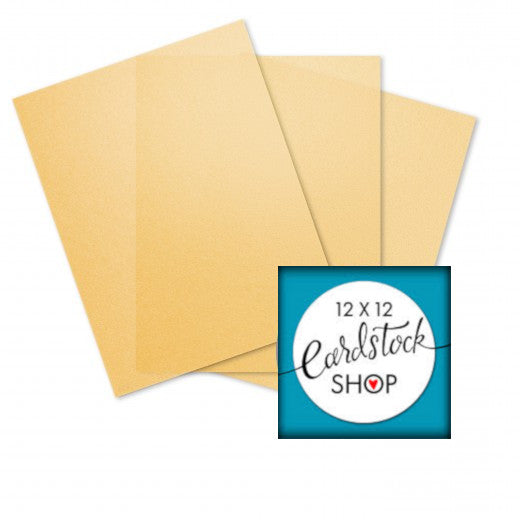 Glama Natural GOLD translucent vellum - 8½ x 11 sheets