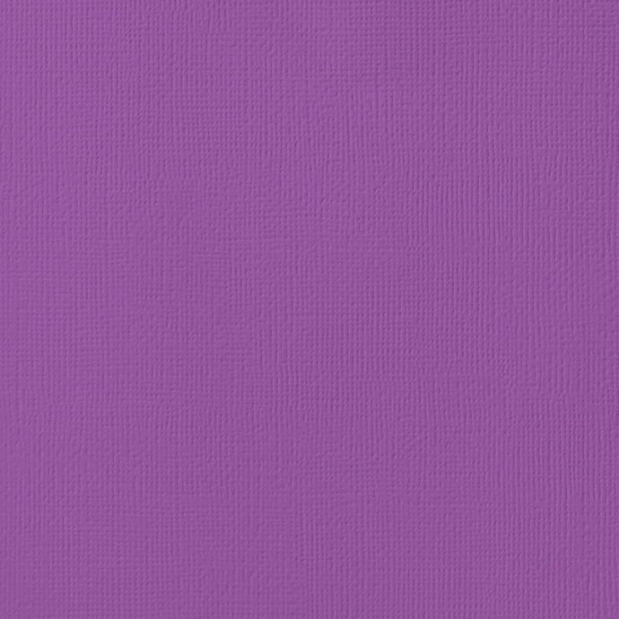 GRAPE purple cardstock - 12x12 inch - 80 lb - textured scrapbook paper - American Crafts