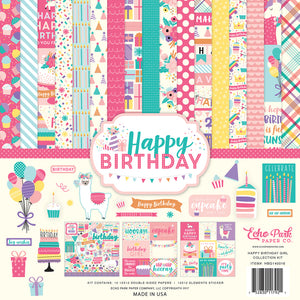 HAPPY BIRTHDAY GIRL 12x12  Page Collection Kit from Echo Park Paper Co.