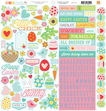 Load image into Gallery viewer, 12x12 Element Sticker Sheet from HAPPY EASTER Collection Kit by Echo Park Paper Co.
