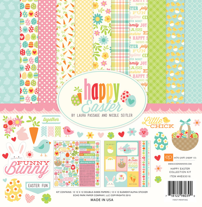 HAPPY EASTER 12x12 Cardstock Collection Kit from Echo Park Paper Co.