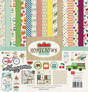 HOMEGROWN 12x12 collection kit celebrating the goodness of life at home - by Echo Park Paper Co.