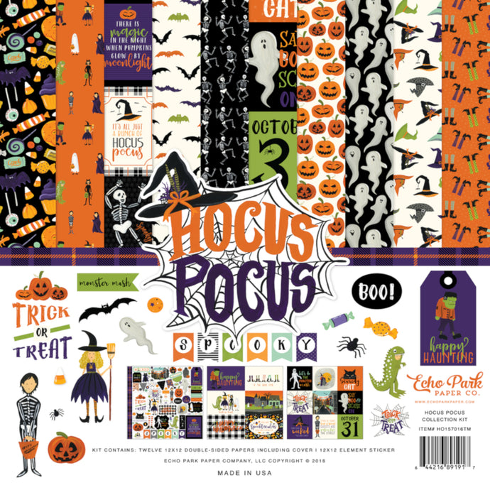 HOCUS POCUS 12x12 Collection Kit from Echo Park Paper Co. - with element sticker sheet