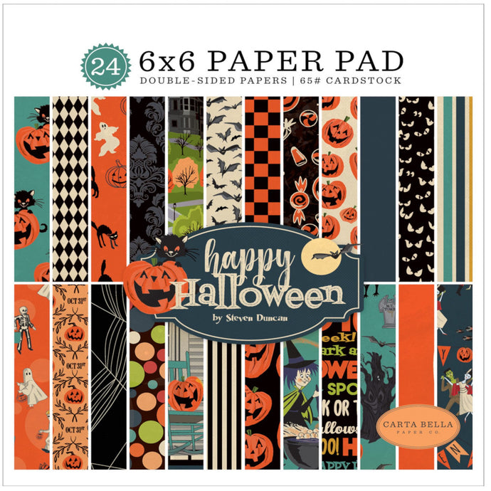 HAPPY HALLOWEEN 6x6 paper pad with 24 double-sided sheets by Carta Bella Paper Co.