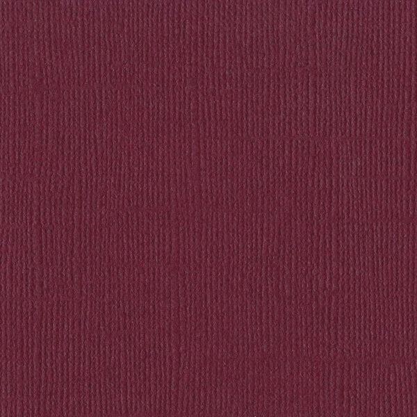 Bazzill Basics JUNEBERRY burgundy red cardstock - 12x12 inch - 80 lb - textured scrapbook paper