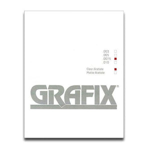 Grafix Clear Acetate sheets - .0075 thickness -singles and 10 packs