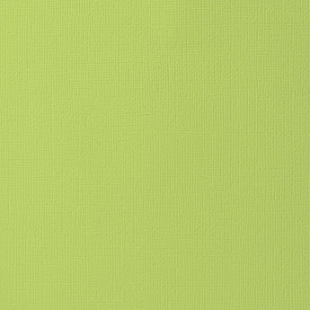 KEY LIME Green Cardstock - 12x12 inch - 80 lb - textured scrapbook paper - American Crafts
