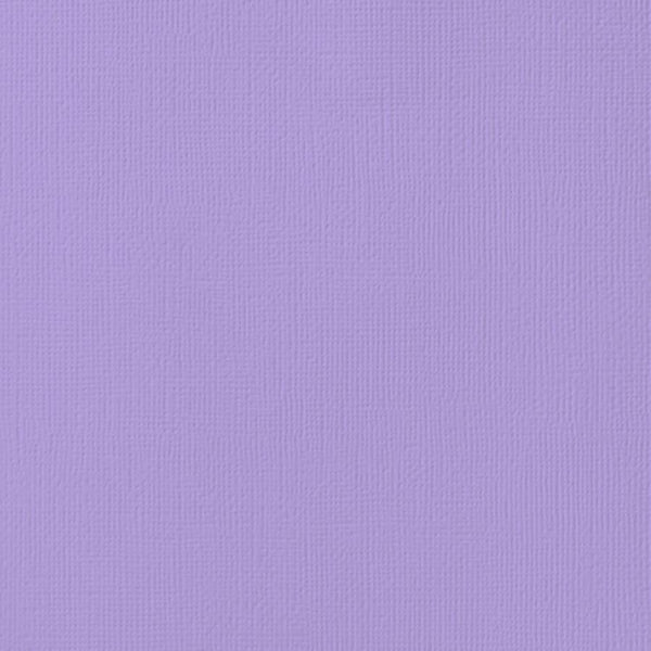 LAVENDER cardstock - 12x12 inch - 80 lb - textured scrapbook paper - American Crafts