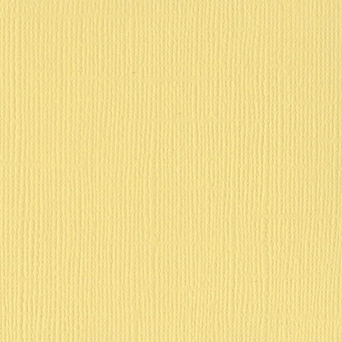 Bazzill Basics LEMONADE yellow cardstock - 12x12 inch - 80 lb - textured scrapbook paper