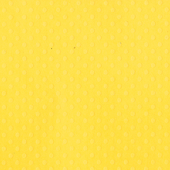 LEMON ZEST Dotted Swiss 12x12 Cardstock from Bazzill