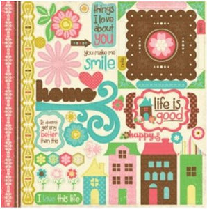 12x12 Element Sticker Sheet for LIFE IS GOOD Collection Kit from Echo Park Paper Co.
