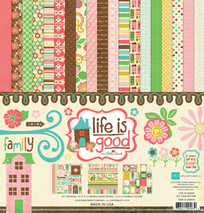LIFE IS GOOD 12x12 Page Collection Kit from Echo Park Paper Co.