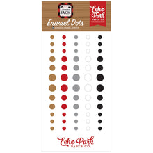Load image into Gallery viewer, Set of 60 Enamel Dots coordinate with Little Lumberjack Collection by Echo Park Paper Co.