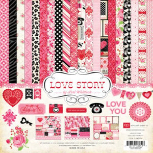 LOVE STORY 12x12 Page Collection Kit from Echo Park Paper Co.