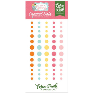 60 enamel dots in spring pastel colors by Echo Park Paper