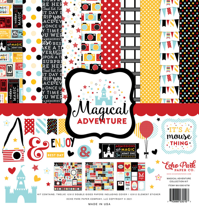 Magical Adventure - 12x12 collection kit with Disney-esque theme by Echo Park Paper