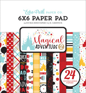 MAGICAL ADVENTURE 2 - 6x6 Paper Pad with 24 double-sided pages by Echo Park Paper Co.