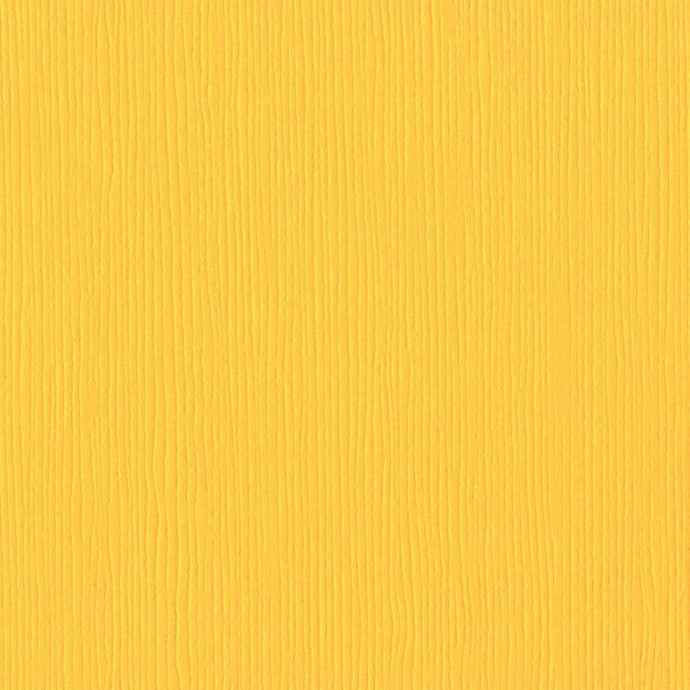 Bazzill Basics MEXICAN POPPY yellow cardstock - 12x12 inch - 80 lb - textured scrapbook paper