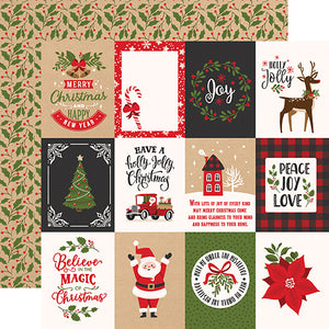 3x4 Journaling Cards 12x12 double-sided cardstock from My Favorite Christmas Collection by Echo Park Paper Co.