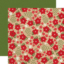 Load image into Gallery viewer, Holiday Floral 12x12 double-sided cardstock from My Favorite Christmas Collection by Echo Park Paper Co.