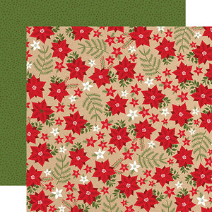 Holiday Floral 12x12 double-sided cardstock from My Favorite Christmas Collection by Echo Park Paper Co.