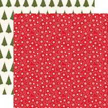 Load image into Gallery viewer, Snow Flurries 12x12 double-sided cardstock from My Favorite Christmas Collection by Echo Park Paper Co.