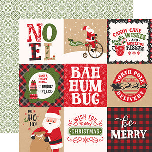 4x4 Journaling Cards 12x12 double-sided cardstock from My Favorite Christmas Collection by Echo Park Paper Co.