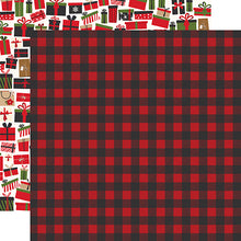 Load image into Gallery viewer, Winter Flannel 12x12 double-sided cardstock from My Favorite Christmas Collection by Echo Park Paper Co.