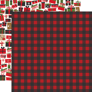 Winter Flannel 12x12 double-sided cardstock from My Favorite Christmas Collection by Echo Park Paper Co.