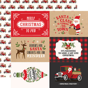 4x6 Journaling Cards - 12x12 double-sided cardstock from My Favorite Christmas Collection by Echo Park Paper Co.