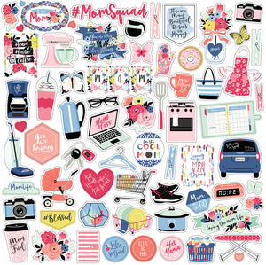 12x12 Element Sticker Sheet for I AM MOM Collection Kit by Echo Park Paper Co.