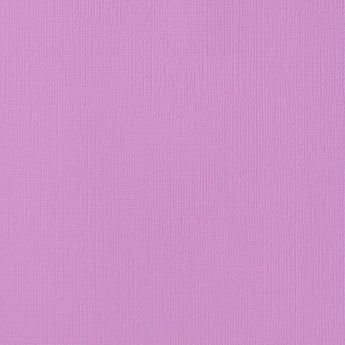 ORCHID light purple cardstock - 12x12 inch - 80 lb - textured scrapbook paper - American Crafts