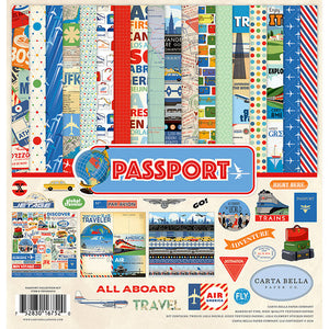 PASSPORT 12x12 cardstock collection kit from Carta Bella Paper Co.